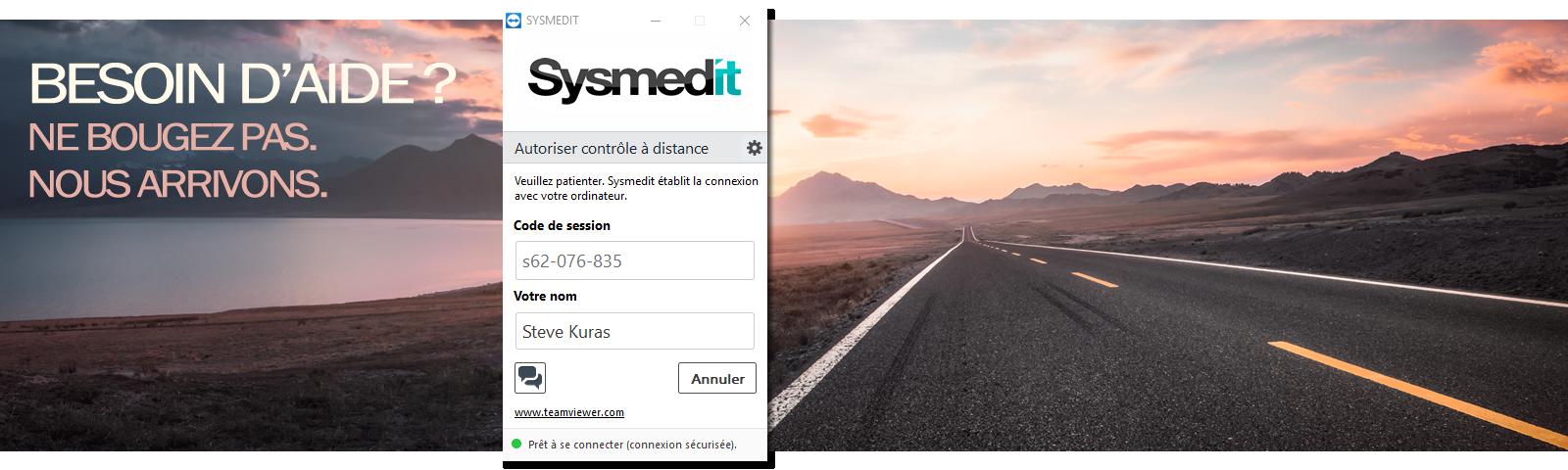 Nous vous aidons avec une assistance par TeamViewer ou que vous soyez en Belgique